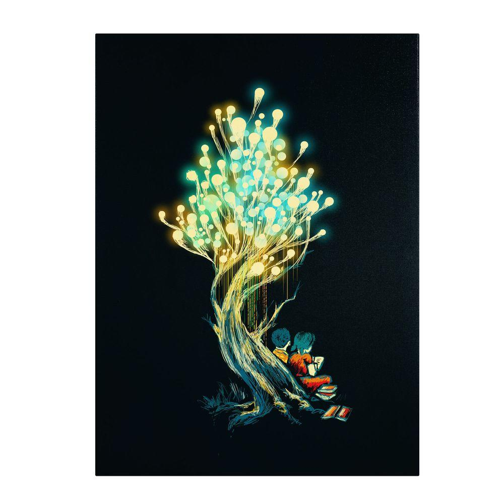 null 14 in. x 19 in. Electricitree Canvas Art