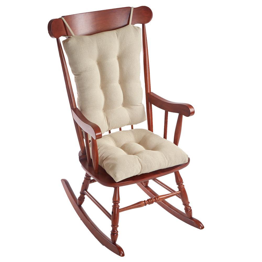 Gripper Saturn Natural Jumbo Rocking Chair Cushion Set