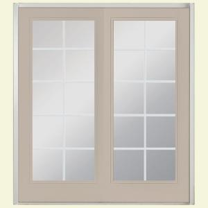 Masonite 60 in. x 80 in. Canyon View Prehung Right-Hand Inswing 10 ...