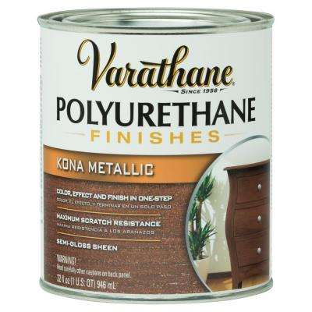 1-qt.Kona Metallic Polyurethane Finish (Case of 2)