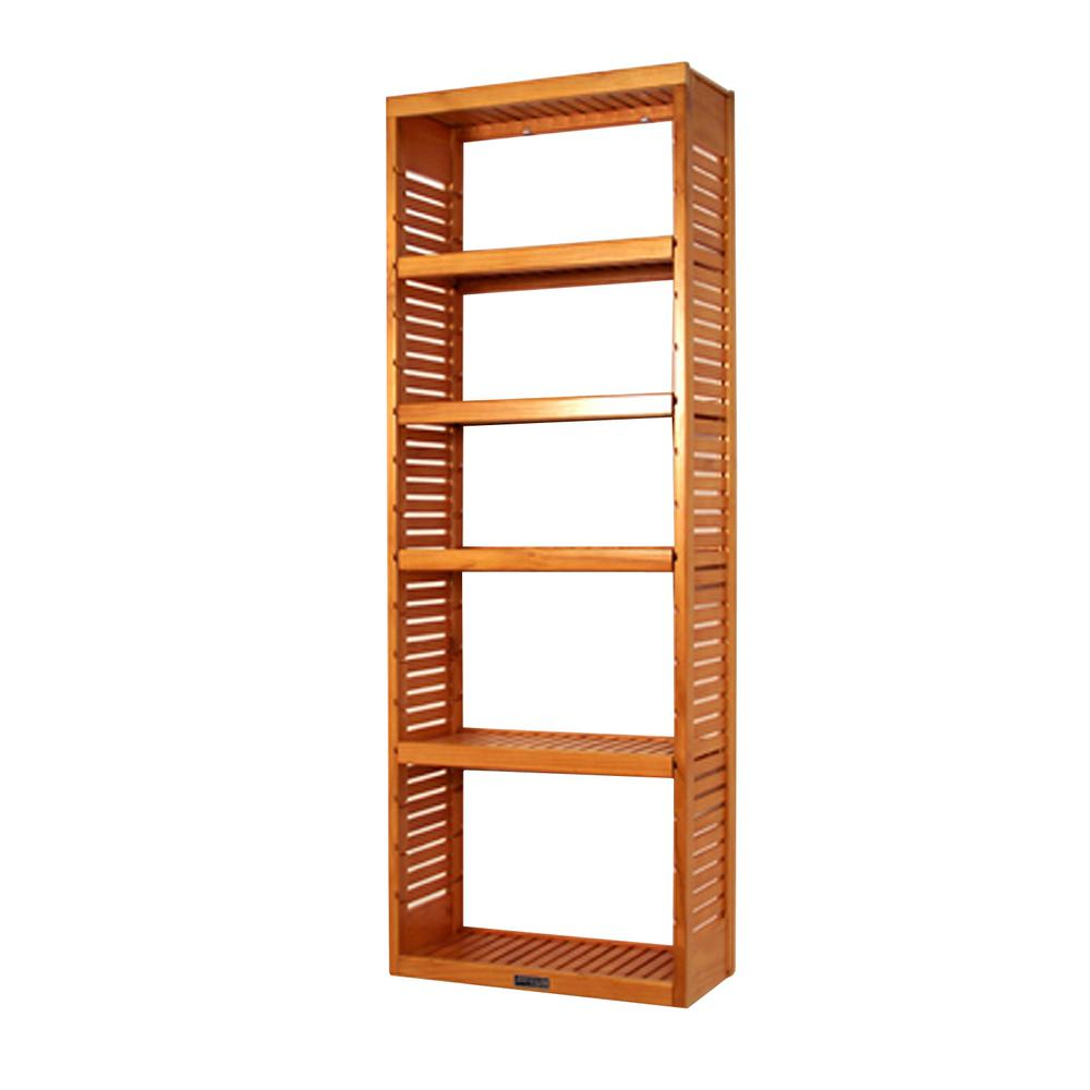12 in. Deep Deluxe Tower Kit with Shelves Honey Maple