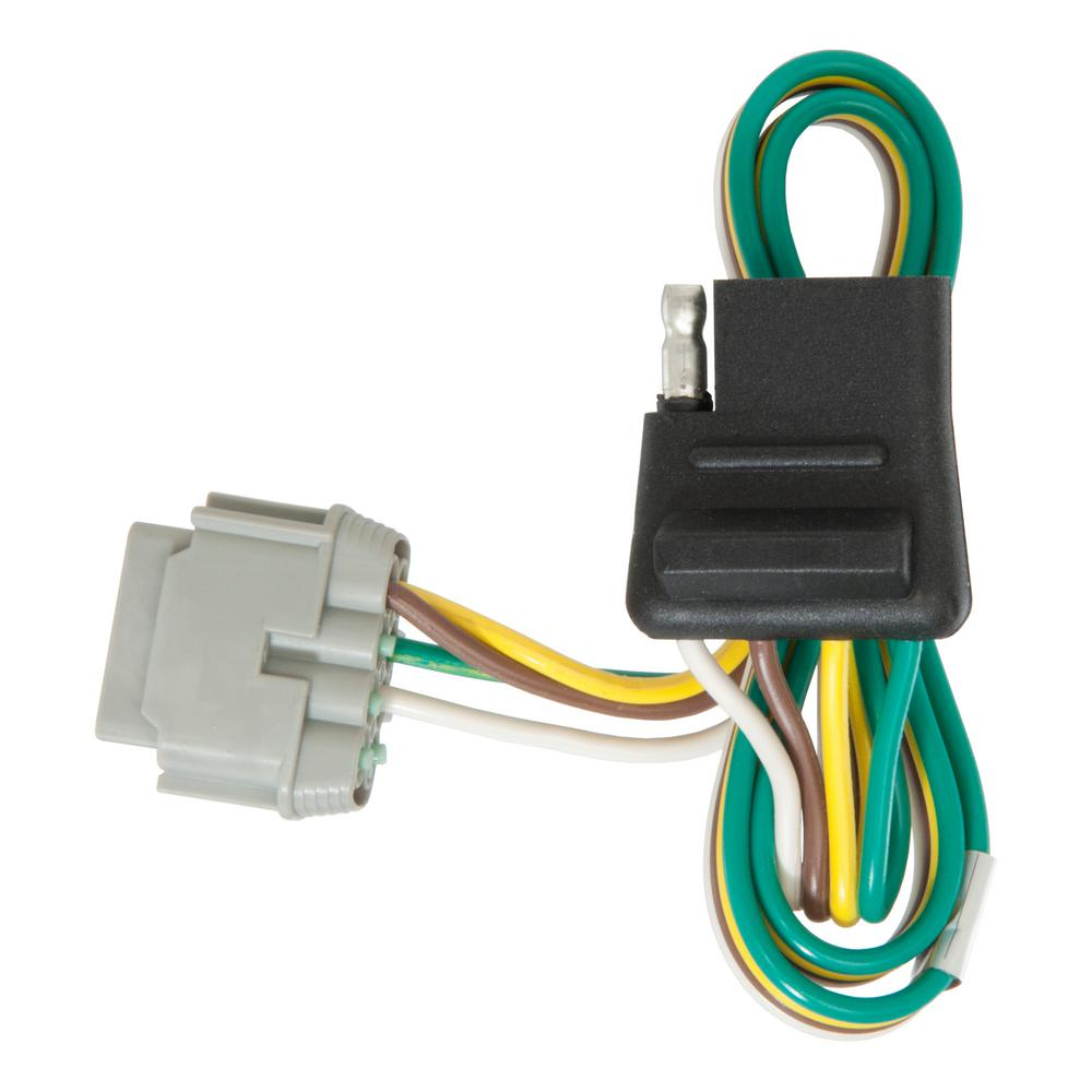 Groovy Curt Custom Wiring Connector 4 Way Flat Output 56141 The Home Depot Wiring Digital Resources Funapmognl