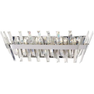 Echo Radiance 5-Light Chrome Bath Light with Clear Glass