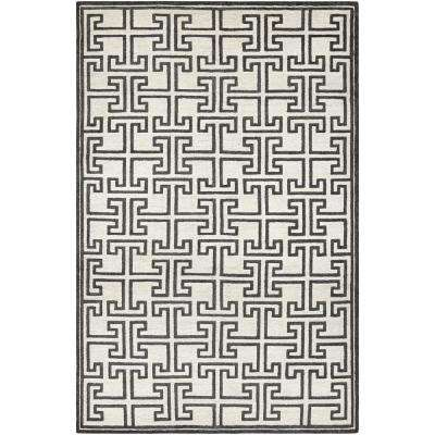 Madera Alden White Black 10 Ft X 14 Area Rug