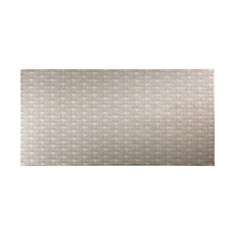 96 in. x 48 in. Hammered Decorative Wall Panel in Crosshatch