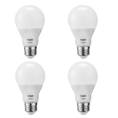 60-Watt Equivalent A19 SceneSwitch LED Light Bulb Soft White (2700K)/Amber (2500K)/ Warm Glow (2200K) (4-Pack)