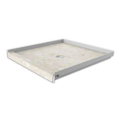 36 in. x 36 in. Single Threshold Shower Base with Center Drain in Calabria