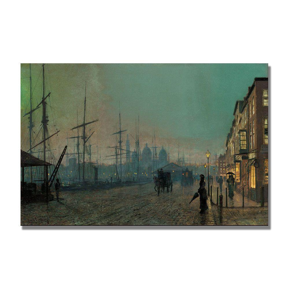 Trademark Fine Art 22 in. x 32 in. Humber Dockside Canvas Art