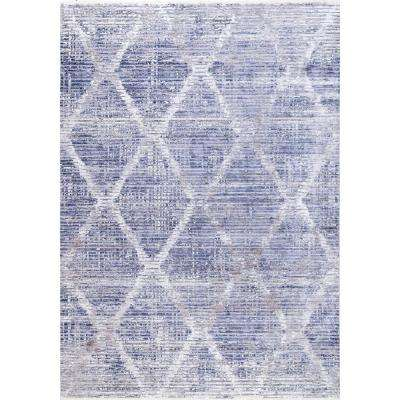 Crystalline Diamonds Distressed Silver 5 ft. 3 in. x 7 ft. 7 in. Area Rug