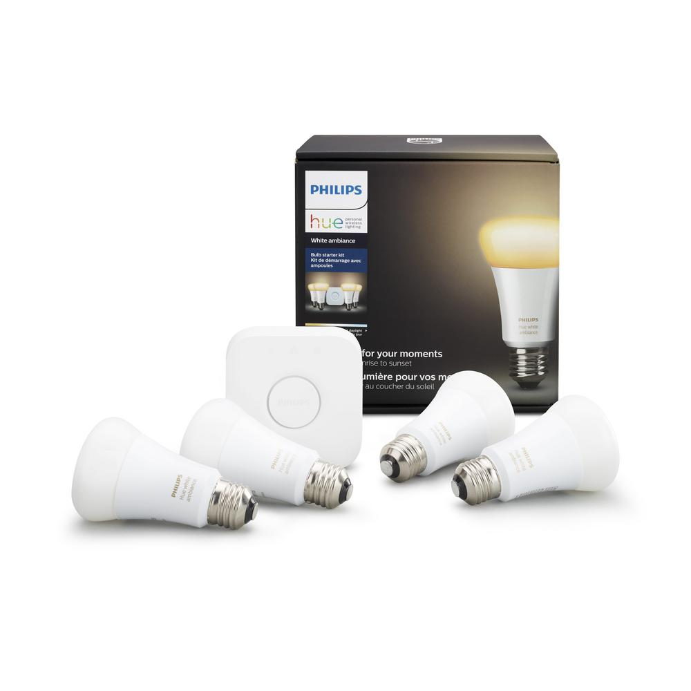 Hue White Ambiance Starter Kit with Light Strip (4-Pack)