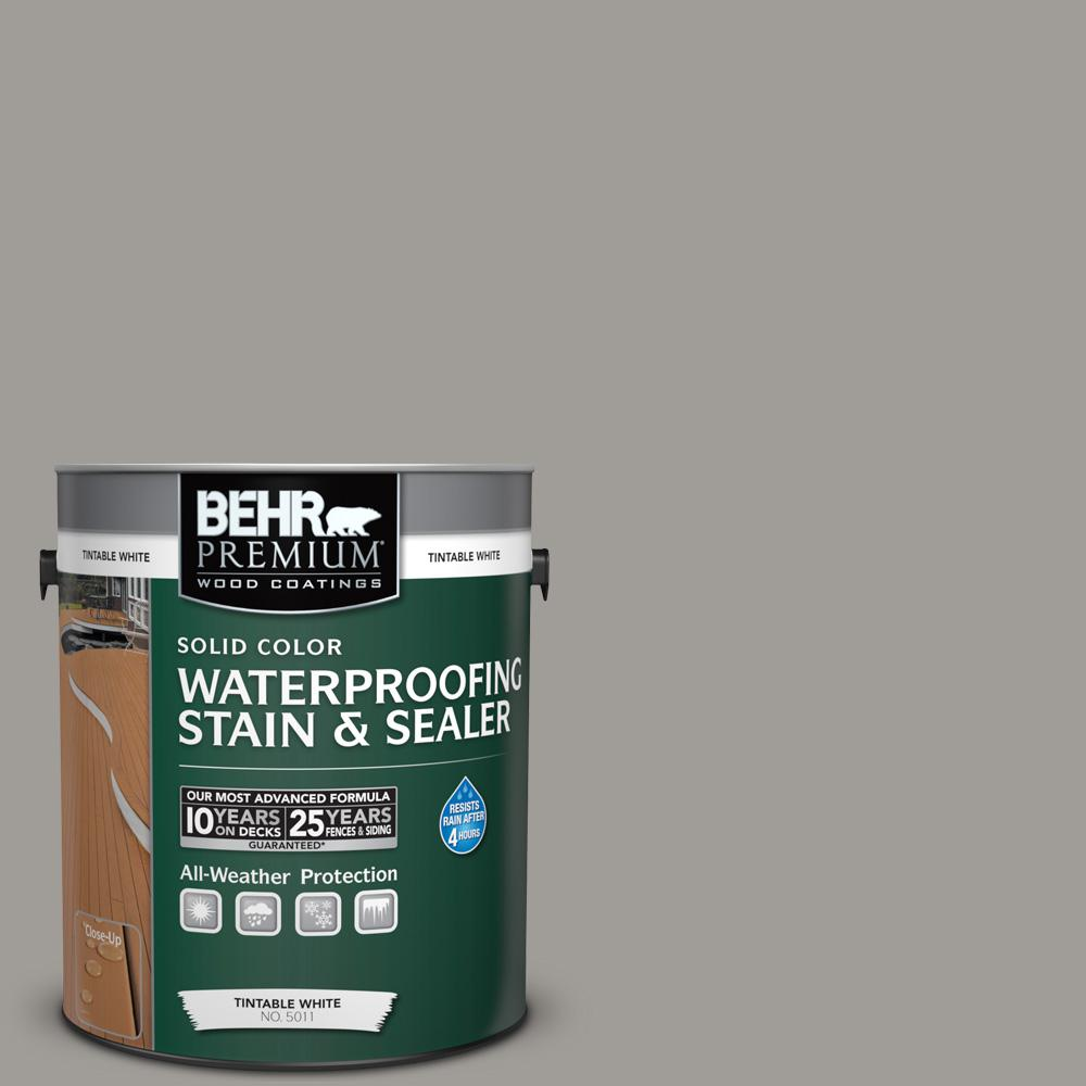1 gal. #BNC-17 Casual Gray Solid Waterproofing Stain and Sealer