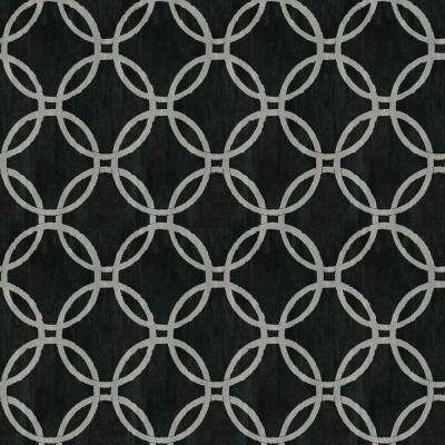 Ecliptic Black Geometric Wallpaper Sample