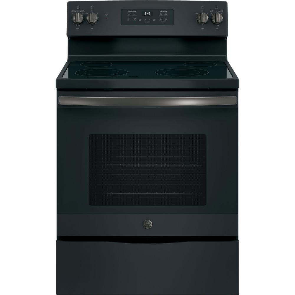 Electric Range With Self Cleaning Oven In Black Slate Fingerprint Resistant