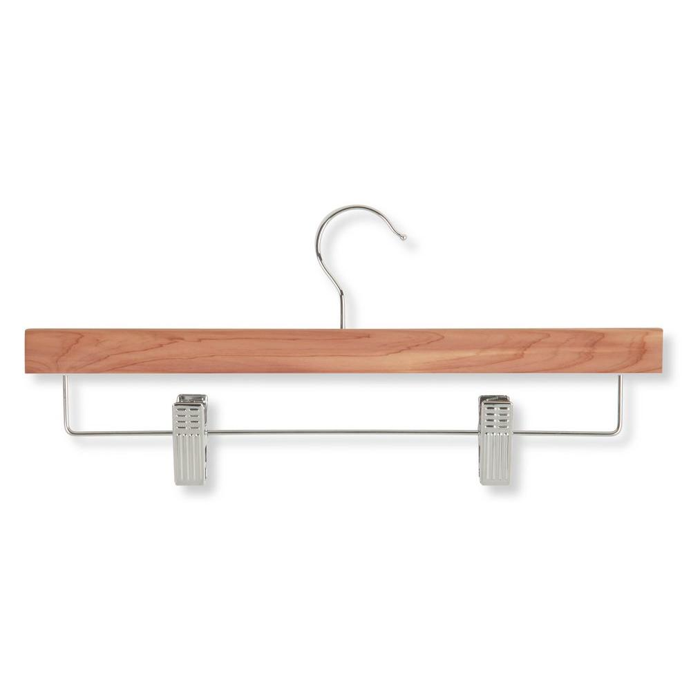 Honey-Can-Do Cedar Skirt and Pant Hangers With Clips (8-Pack ...