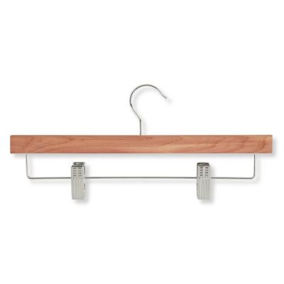 Cedar Skirt and Pant Hangers With Clips (8-Pack)