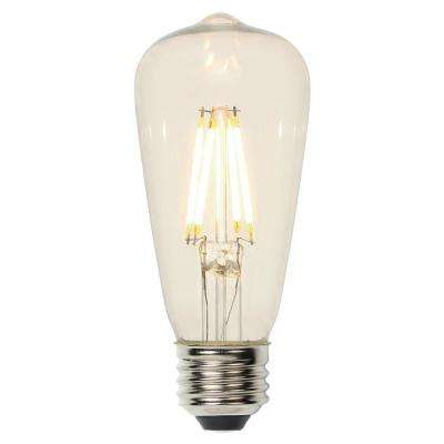 60W Equivalent Soft White ST15 Dimmable Filament LED Light Bulb