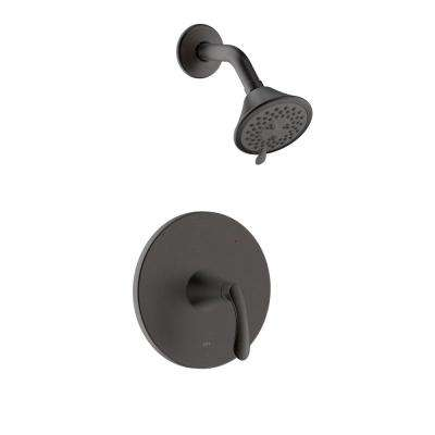 Arts et Metiers Single Handle 3-Spray Round Shower Faucet with Rough-In Valve in Oil Rubbed Bronze