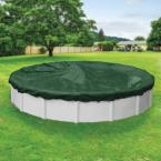 Dura-Guard 24 ft. Round Green Solid Above Ground Winter Pool Cover
