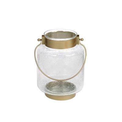 9.4 in. Metal and Glass Lantern