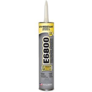 E6800 10.2 fl. oz. UV Resistant Cartridge Adhesive (12-Pack) by E6800