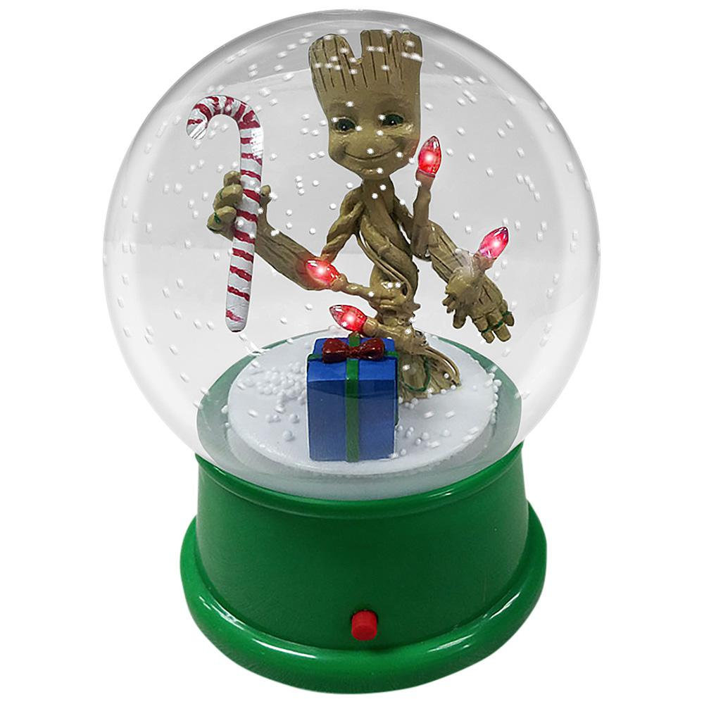 4.5 in. Snow Globe Groot with Candy Cane