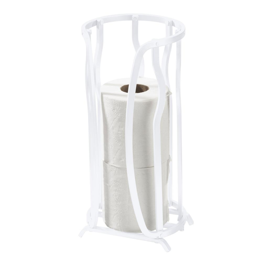 Bath Bliss Aluminum Toilet Paper Reserve in White