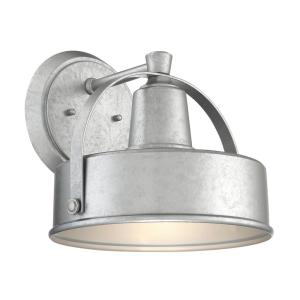 Portland-DS 1-Light 11 in. Galvanized Outdoor Wall Lantern Sconce