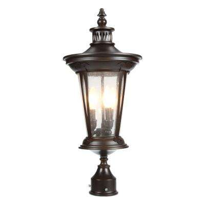 North Hampton 3 Light Outdoor Old Bronze Post Lantern