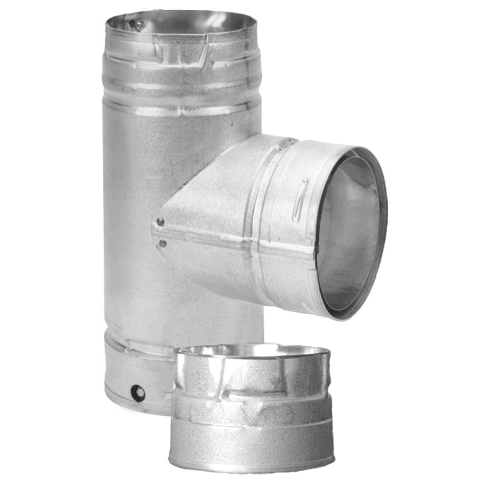 How To Clean Bathroom Vent Pipe: DuraVent PelletVent 4 In. Single Tee With Clean-Out Cap