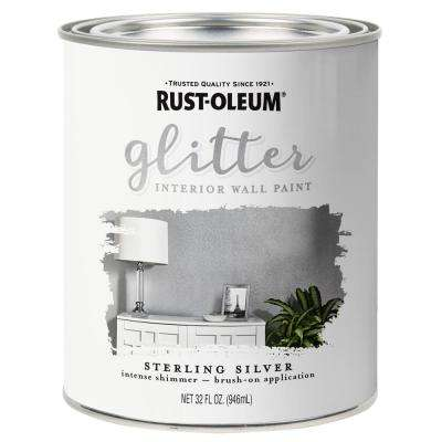1 qt. Sterling Silver Glitter Interior Paint