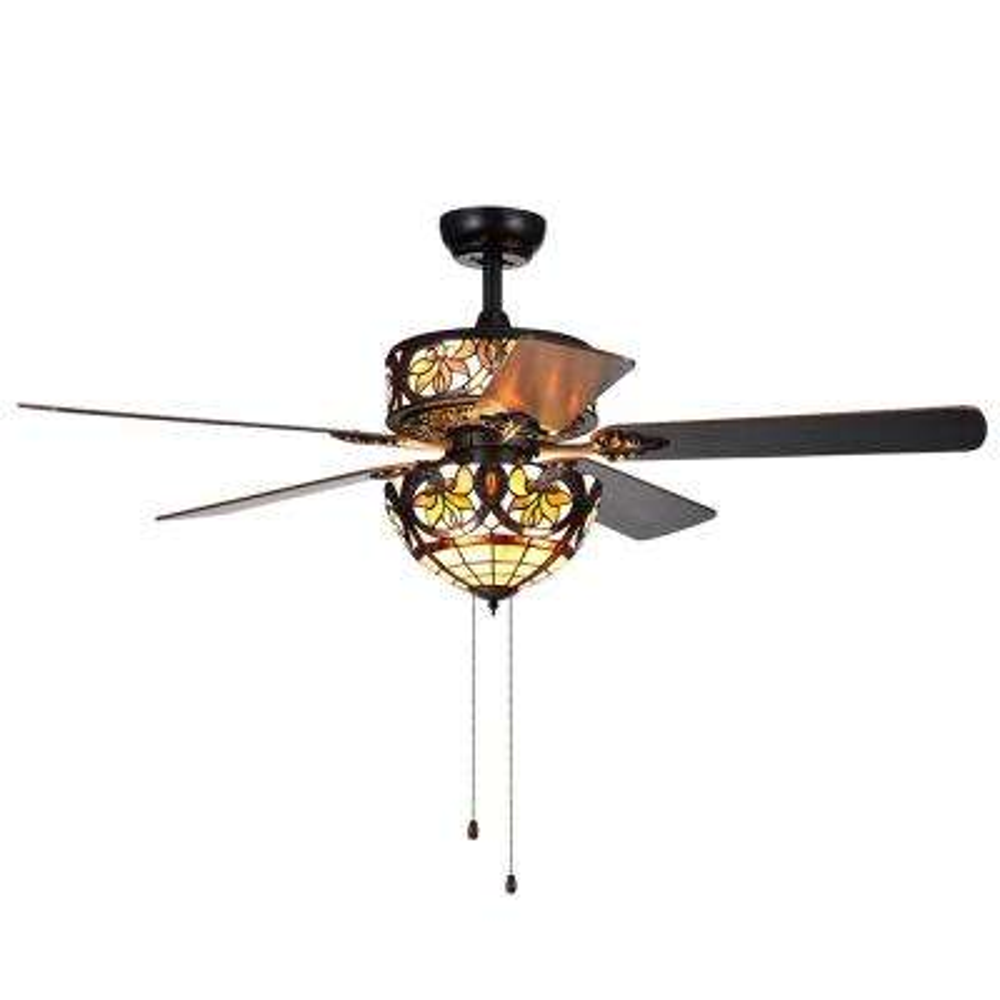 Jyrku 52 in. Indoor Matte Black Ceiling Fan with Light Kit
