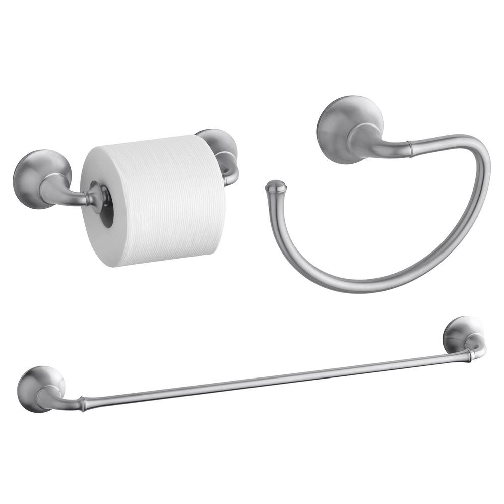 KOHLER Forte Traditional 3-Piece Accessory Bundle with Towel Bar ...