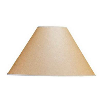 17 in. Beige Vertical Basic Coolie Kraft Paper Hardback Shade