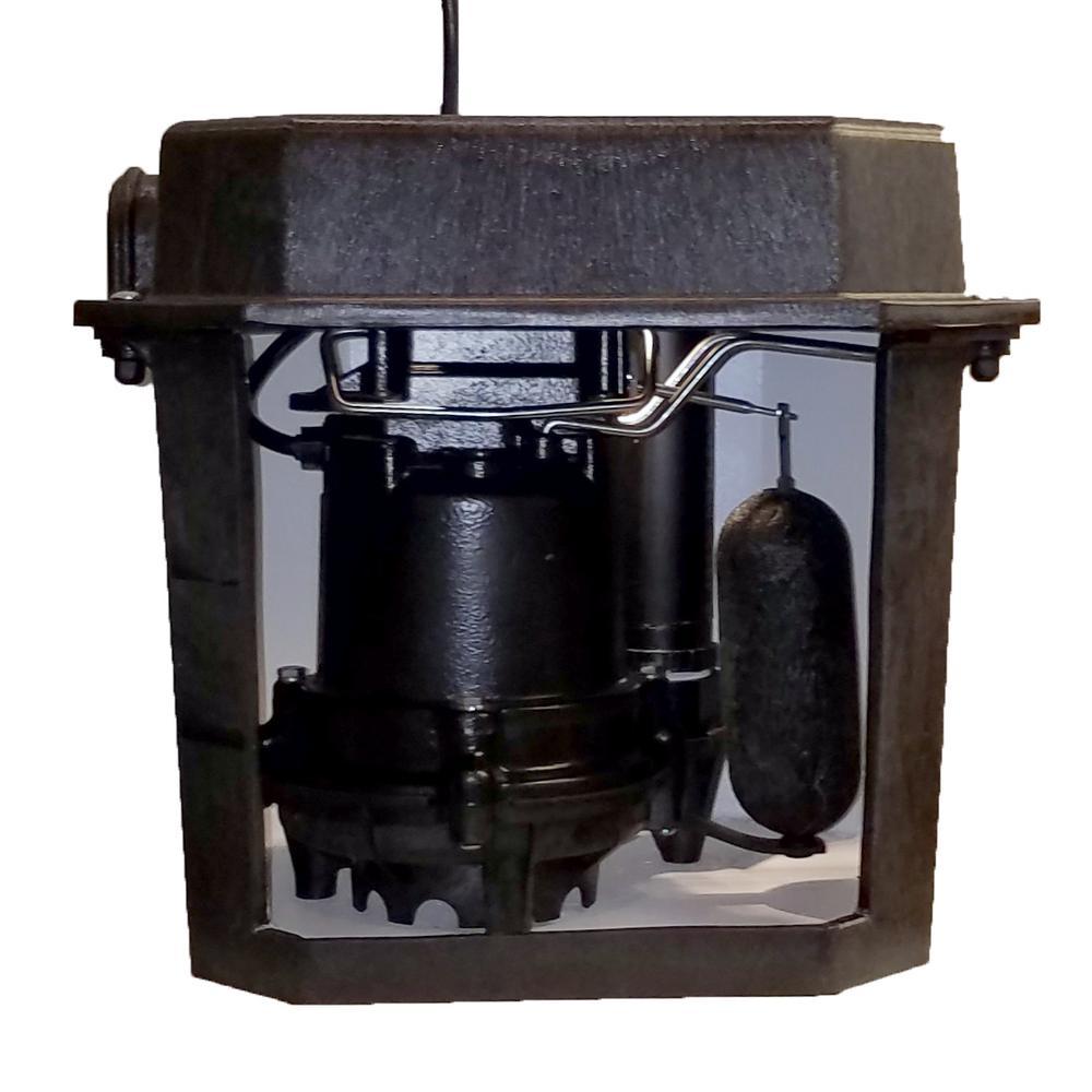 Superior Pump 1 3 Hp Non Submersible Pedestal Sump Pump