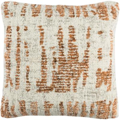 Ellerman Orange Graphic Polyester 20 in. x 20 in. Throw Pillow