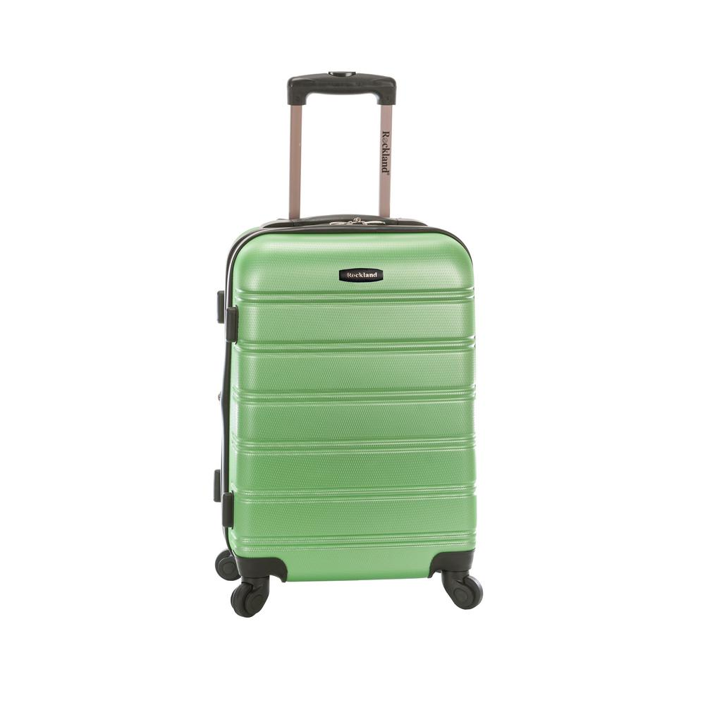 Melbourne 20 in. Expandable Carry on Hardside Spinner Luggage, Green