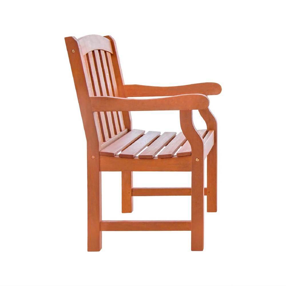 Vifah Malibu Wood Outdoor Dining Chair