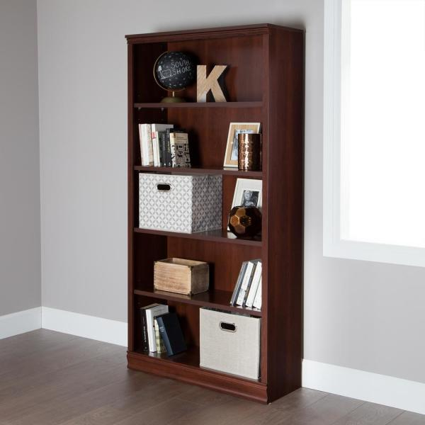 South Shore Morgan Royal Cherry Open Bookcase