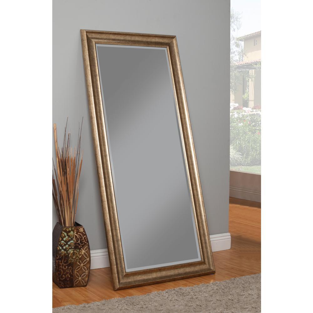 Sandberg Furniture Antique Gold Full Length Floor Leaner Mirror by Sandberg Furniture