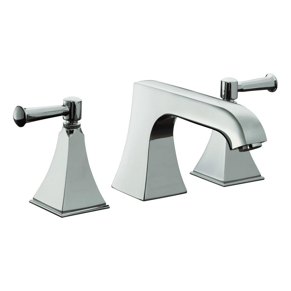 KOHLER Memoirs 8 in. 2-Handle Bathroom Faucet in Polished Chrome ...