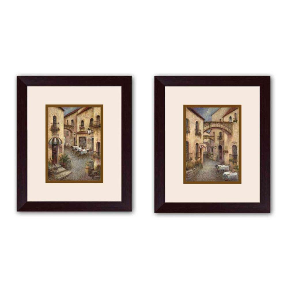 "15.5 in. x 17.5 in. ""Boun Appetito"" Brown Matted Framed Wall"