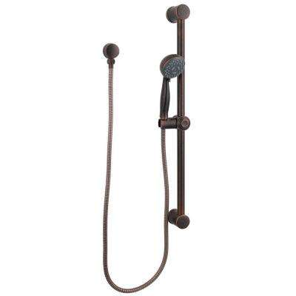 16-Series 3-Spray Slide Bar Handshower in Rustic Bronze