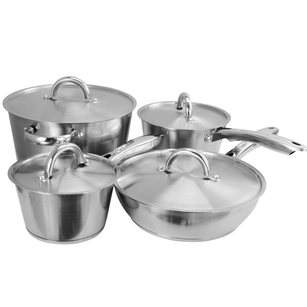 Warwick 8-Piece Stainless Steel Cookware Set