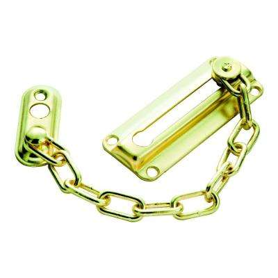 Polished Brass Chain Door Guard