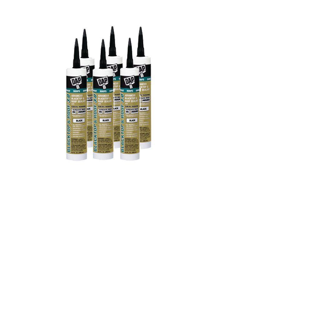 DAP Advanced 3.0 9.8 oz. Blacktop & Roof Sealant Black (6-Pack)-DISCONTINUED