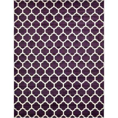 Trellis Purple 12 Ft. 2 In. X 16 Ft. Area Rug