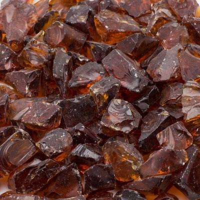 1/2 in. 25 lb. Medium Amber Landscape Fire Glass