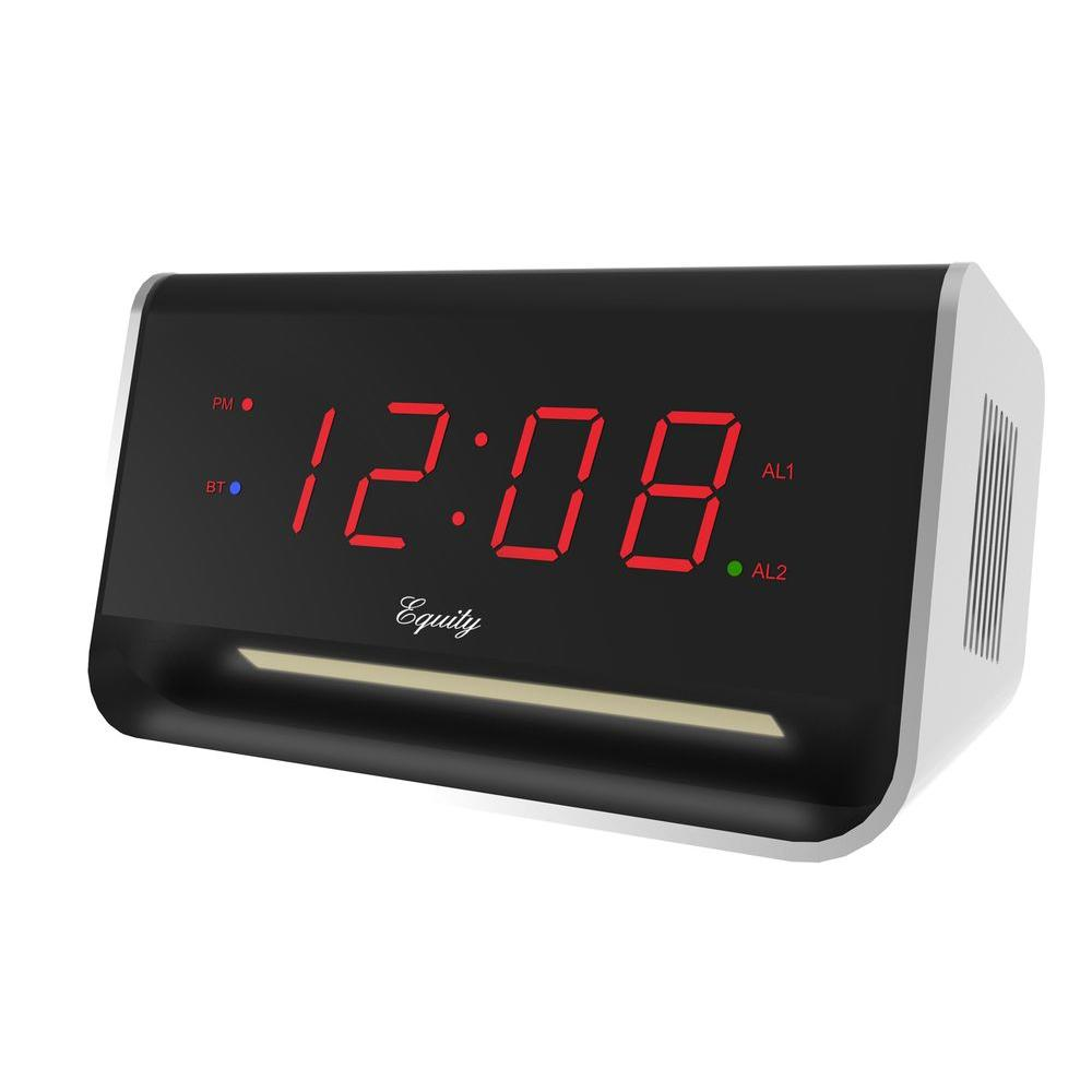 5.5 in. x 3.15 in. LED Alarm Clock with Bluetooth and