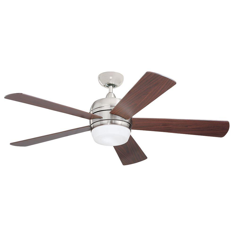 Illumine Zephyr 52 in. Indoor Brushed Steel Ceiling Fan