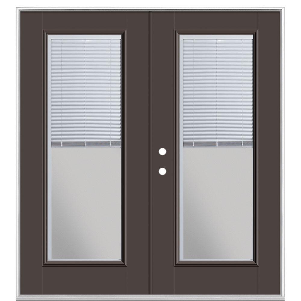 Masonite Wood Steel Mini Blind Patio Door Vinyl Frame Without Brickmold